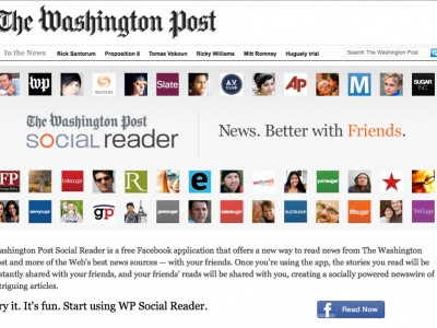 image of Washington Post page about Social Reader