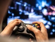 photo of video game player
