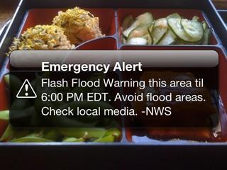 image of iPhone weather emergency alert