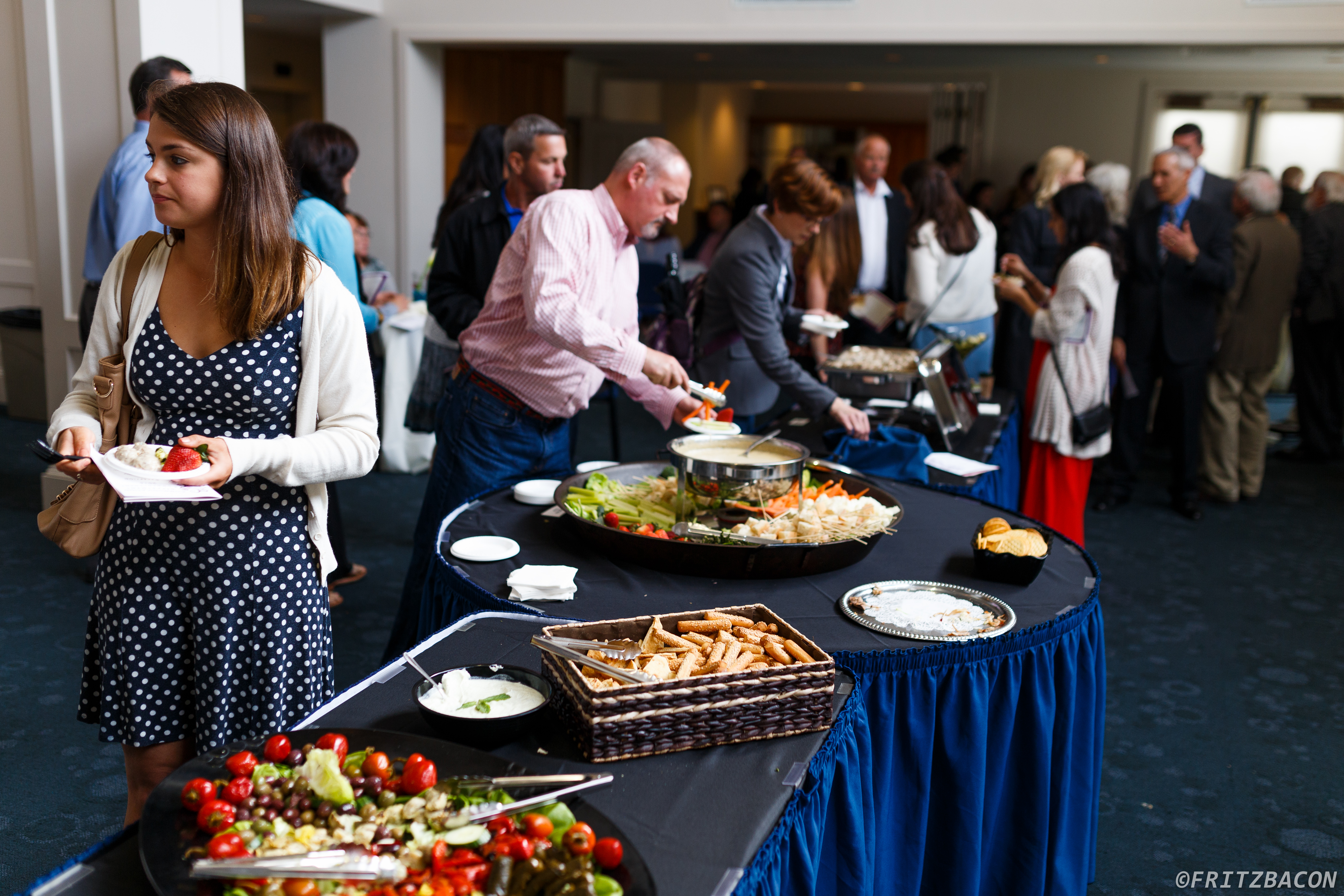 Guests enjoying catering