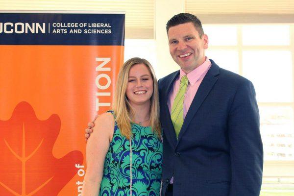 Prof. Rory McGloin with undergraduate student