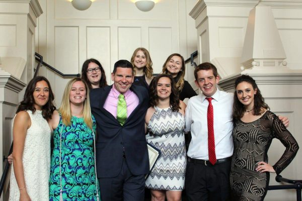 Members of Comm Society with Prof. Rory McGloin