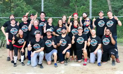 The Commies summer softball team group photo