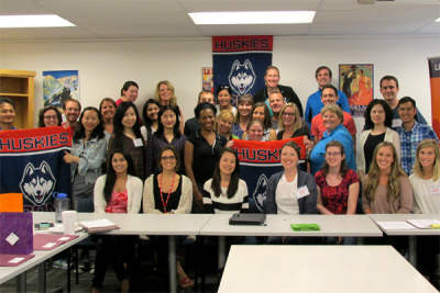 photo of grad students at August Orientation