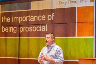Photo of Kory Floyd presentation