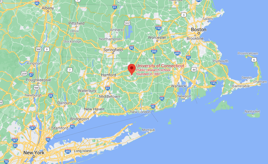 map of New York City to Boston
