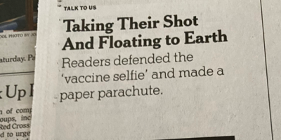 photo of NY Times letter to editor