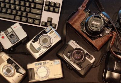 photo of several cameras