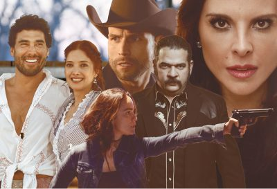 composite of images from popular telenovelas