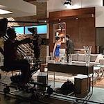 photo of a television set for a telenovela